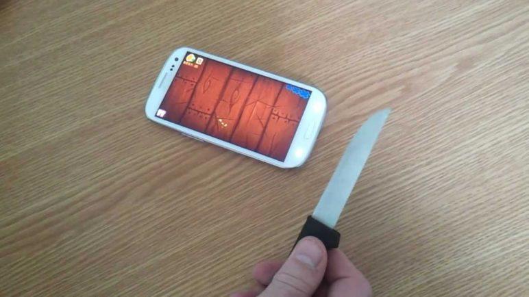 Playing Fruit Ninja like a boss on Samsung Galaxy S3