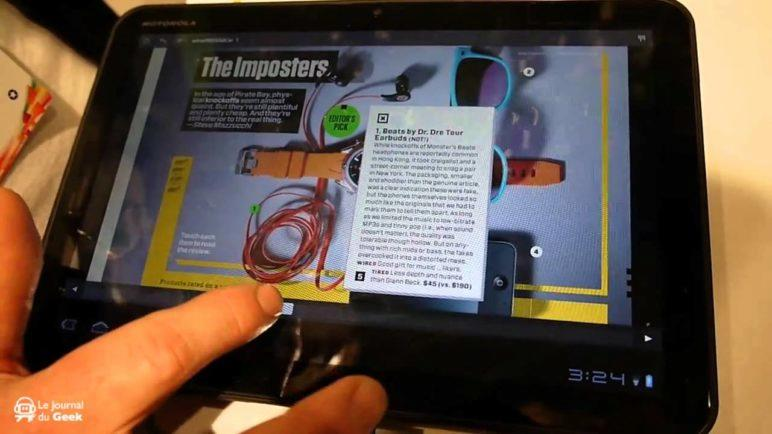 Preview Wired on Android Honeycomb tablet