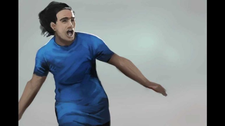 Real Football 2013 - iPhone/iPad/Android - Falcao Speed Drawing