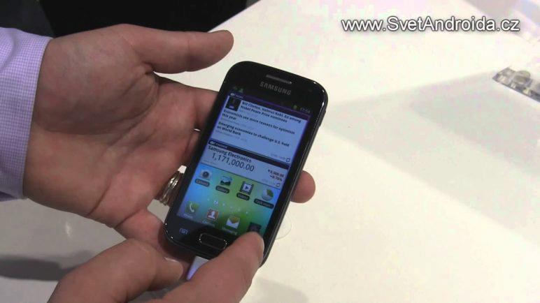 Samsung Galaxy Ace 2 na MWC 2012