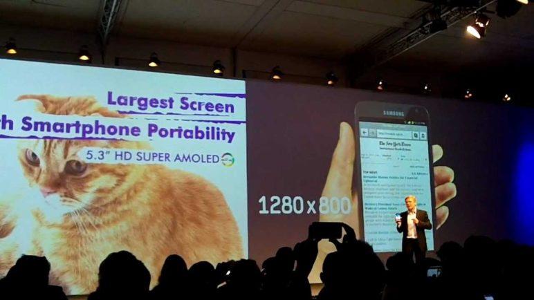 Samsung Galaxy Note Presentation at IFA 2011