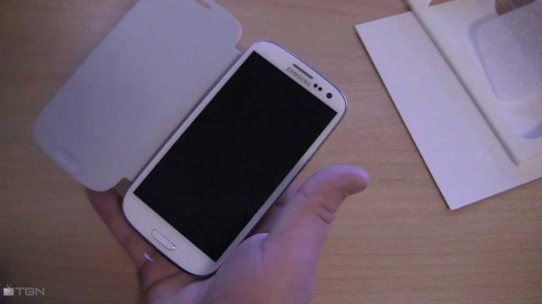 Samsung Galaxy S III Flip Cover (unboxing)
