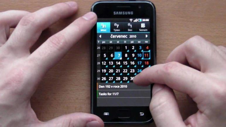 Samsung Galaxy S - Prostředí telefonu
