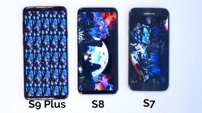 Samsung Galaxy S7 vs. Galaxy S8 vs. Galaxy S9 Plus - Antutu Benchmark - SvetAndroida.cz