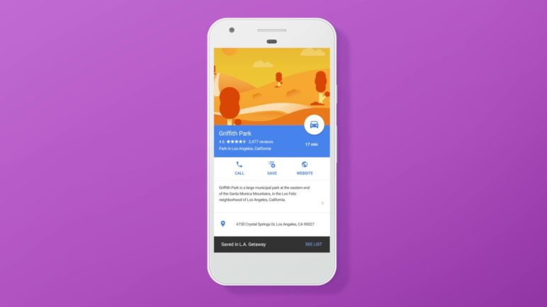Save and share your favorite places with Lists in Google Maps