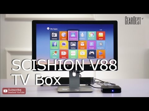 SCISHION V88 TVBox Rockchip 3229 Quad Core & LP-08 Sound Bar Bluetooth Speaker - Gearbest.com