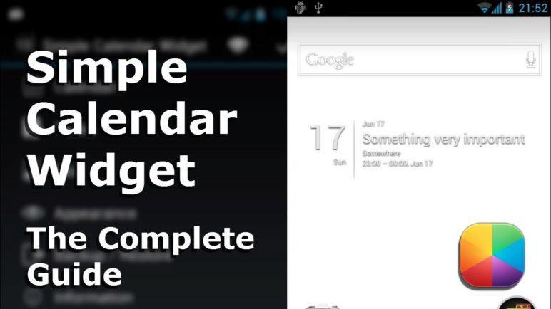 Simple Calendar Widget - The Complete Guide