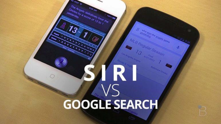 Siri vs. Google Search (Jelly Bean)