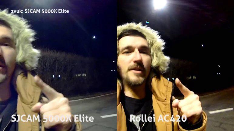 SJCAM 5000X Elite vs Rollei AC420 iso a mikrofon