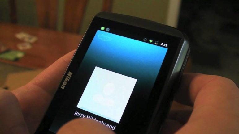 Skype on the Nikon Coolpix S800c