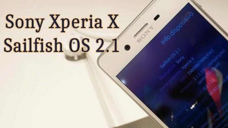 Sony Xperia X with Sailfish OS 2.1 #MWC17