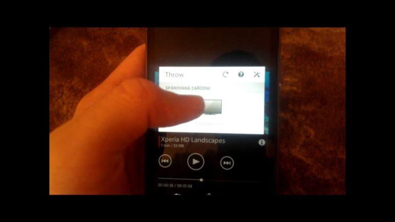 Sony Xperia Z1 - představení funkce Throw