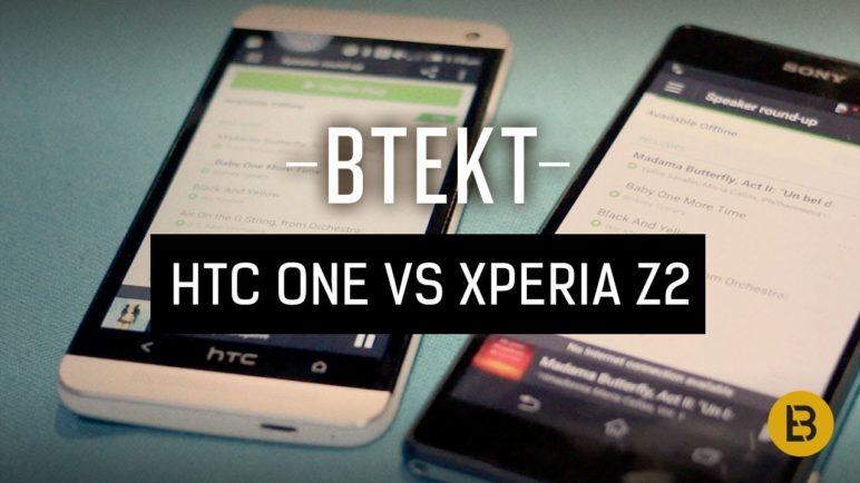 Sony Xperia Z2 vs HTC One - speaker comparison