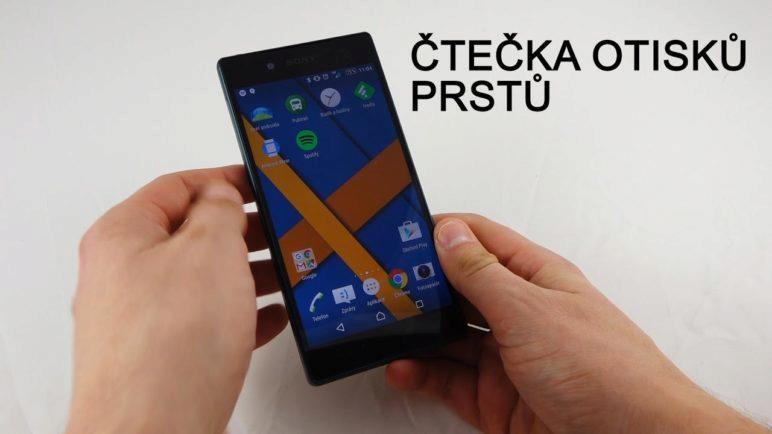 Sony Xperia Z5 - čtečka otisků prstu