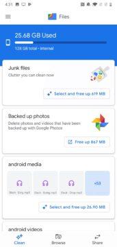 spravce souboru google files