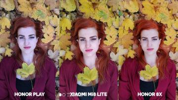 Srovnani fotoaparatu Honor Play vs Xiaomi Mi 8 Lite vs Honor 8X modelka v listi