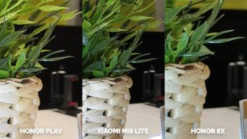 Srovnani fotoaparatu Honor Play vs Xiaomi Mi 8 Lite vs Honor 8X test blesku detail