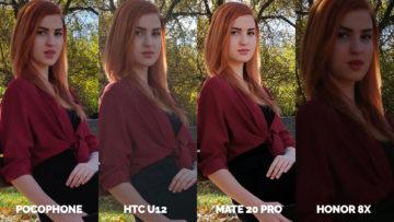 srovnani fotoaparatu Pocophone F1 vs. Huawei Mate 20 Pro vs. Honor 8X vs. HTC U12+ lavicka zena (2)