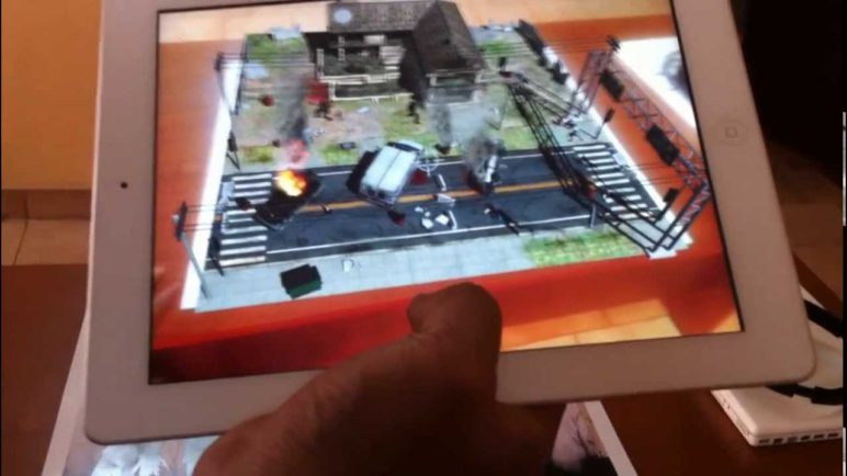 Table zombies augmented reality gameplay