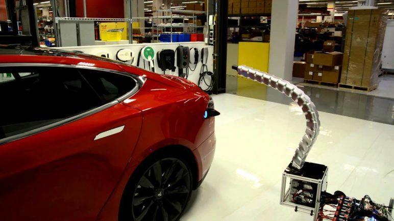 Tesla Charging Snake