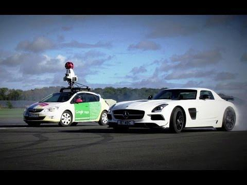 The Stig Vs. Google Street View Car | Top Gear Track now available on Google Maps!