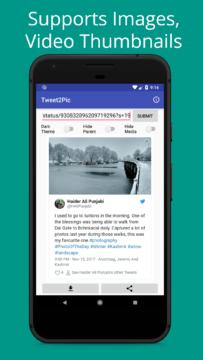 Tweet2Pic aplikace