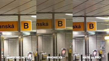 umele osvetleni fotografie apple iphone xs vs huawei mate 20 pro vs samsung galaxy note 9 detail
