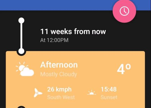 Weather Timeline - Demo
