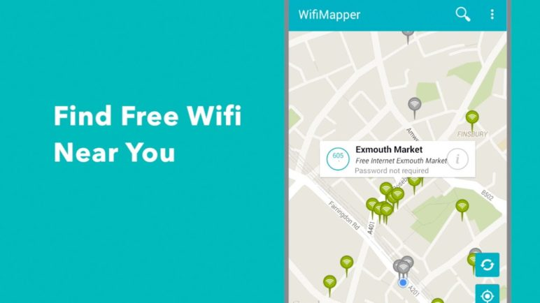 Wifimapper App Preview for Android