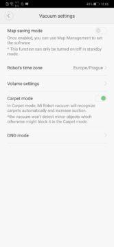 Xiaomi Roborock S50 recenze Xiaomi Mi Home aplikace nastaveni vysavace