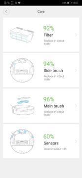 Xiaomi Roborock S50 recenze Xiaomi Mi Home aplikace opotrebeni