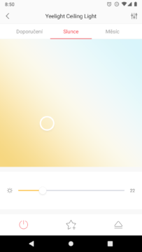 Xiaomi Yeelight vyber svetla