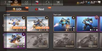 Command & Conquer: Rivals jednotky GDI - letadla