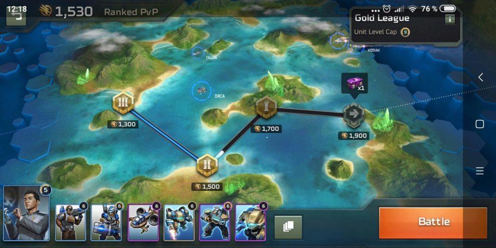 Command & Conquer: Rivals - ligová mapa