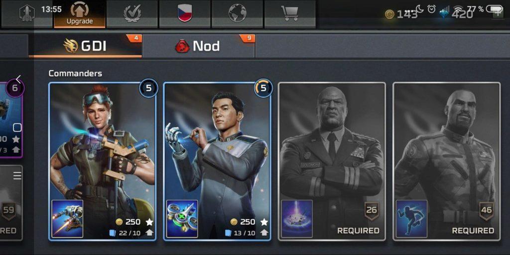 Command & Conquer: Rivals velitelé GDI
