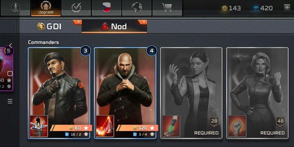 Command & Conquer: Rivals velitelé NOD
