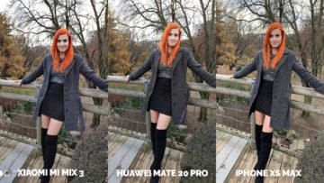 Fototest Xiaomi Mi Mix 3 vs Huawei Mate 20 Pro vs Apple iPhone XS Max modelka