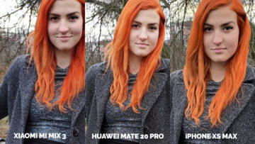 Fototest Xiaomi Mi Mix 3 vs Huawei Mate 20 Pro vs Apple iPhone XS Max modelka detail