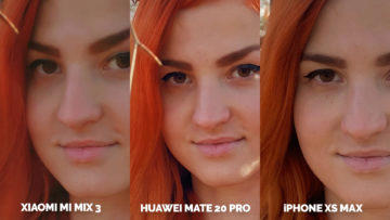 Fototest Xiaomi Mi Mix 3 vs Huawei Mate 20 Pro vs Apple iPhone XS Max modelka portret detail