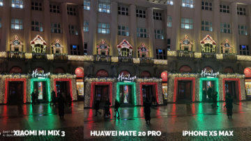 Fototest Xiaomi Mi Mix 3 vs Huawei Mate 20 Pro vs Apple iPhone XS Max nocni fotografie
