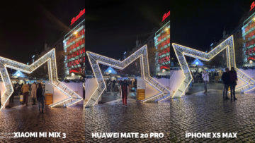 Fototest Xiaomi Mi Mix 3 vs Huawei Mate 20 Pro vs Apple iPhone XS Max nocni fotografie vanoce