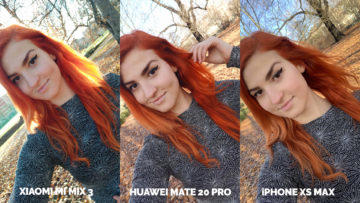 Fototest Xiaomi Mi Mix 3 vs Huawei Mate 20 Pro vs Apple iPhone XS Max selfie kamera