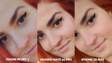 Fototest Xiaomi Mi Mix 3 vs Huawei Mate 20 Pro vs Apple iPhone XS Max selfie kamera detail