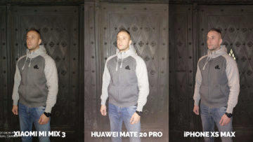 Fototest Xiaomi Mi Mix 3 vs Huawei Mate 20 Pro vs Apple iPhone XS Max test blesku