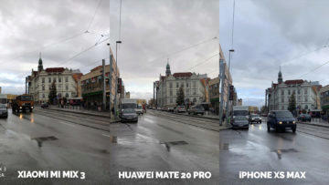 Fototest Xiaomi Mi Mix 3 vs Huawei Mate 20 Pro vs Apple iPhone XS Max ulice