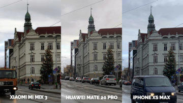 Fototest Xiaomi Mi Mix 3 vs Huawei Mate 20 Pro vs Apple iPhone XS Max ulice detail