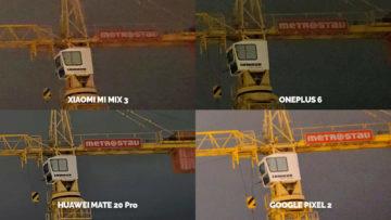 Noční režim Xiaomi Google Huawei OnePlus panorama detail