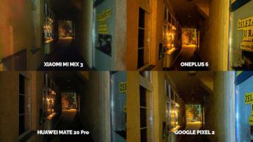 Noční režim Xiaomi Google Huawei OnePlus podchod