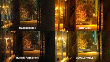 Noční režim Xiaomi Google Huawei OnePlus podchod detail