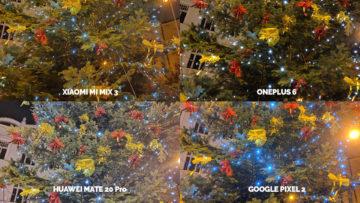 Noční režim Xiaomi Google Huawei OnePlus vanocni stromek